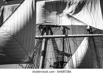 Ship masts during the 2015 Festival of Sail in San Diego, CA.