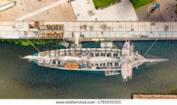 Ship Meridian (Meridianas) at Klaipėda, Lithuania