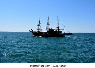 Ship in the middle of the sea