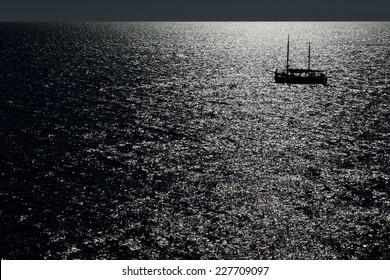 Ship in the Moonlight