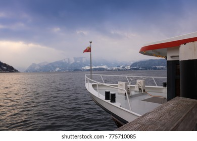 Ship on the Traunsee.