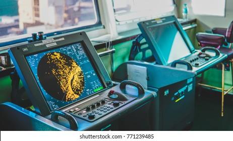 Ship Radar inside bridge room