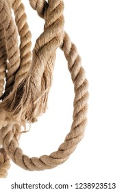 ship rope and knot isolated on a white background