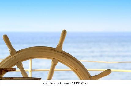 Ship rudder and sea