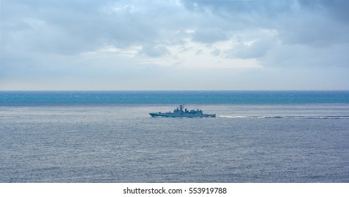 The ship of the Russian Navy in the Black Sea