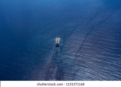 Ship at sea, wonderful photo with reflection, Rio de Janeiro, Brazil South America