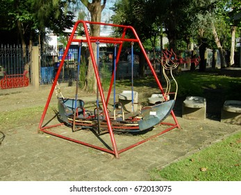 The ship swings in a playground.