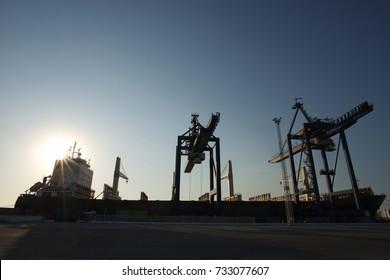 ship waiting at the port