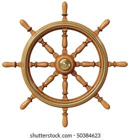 Ship wheel (3d illustration)
