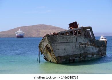 ship wreck on the falkland islands