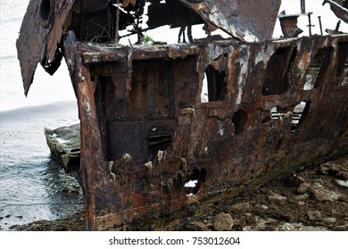 Ship Wreck At Redcliffe Australia