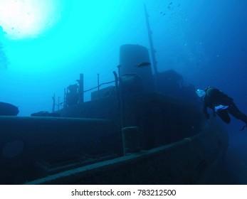 Ship wreck underwater