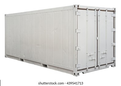 Shiping container isolated. Clipping path included.