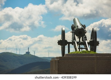 Shipka Pass Freedom Monument cannon in Bulgaria