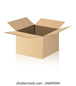Shipping box isolated