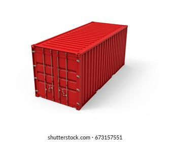 Shipping container, 3D illustration