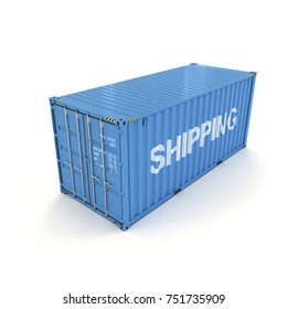Shipping Container on a White (3d illustration)