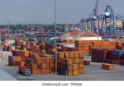 Shipping container operations at Baltimore Maryland USA