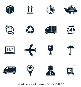 Shipping & delivery icons