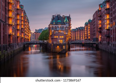 Shipping docks in Hamburg Germany