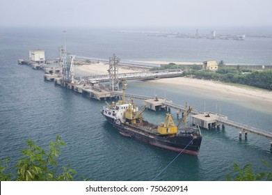 Shipping harbour at Vizag