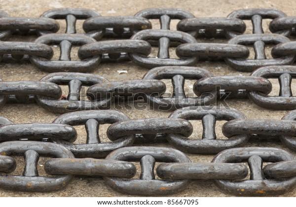 Ships anchor chains