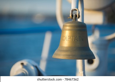 """Ship's bell inscribed """"Captain"""""""