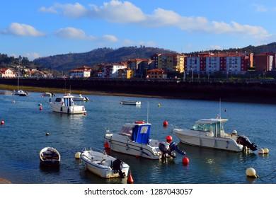 Ships and boats waiting at water