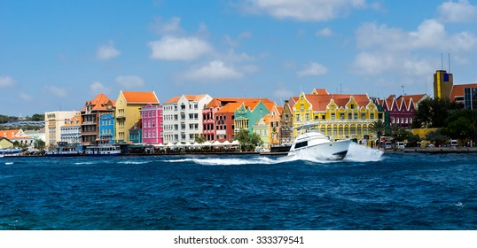 Ships coming in and out of Punda - Views around Curacao a Caribbean Island
