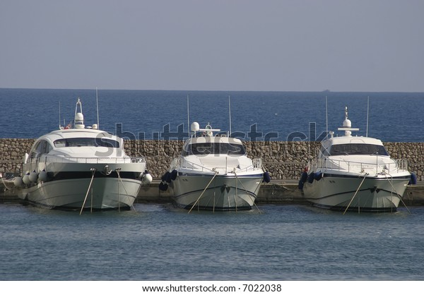 Ships in harbor