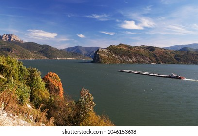 Ships on Danube River, Romania, Europe