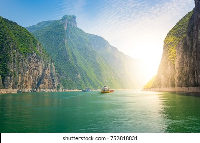 Ships on the Yangtze River, China
