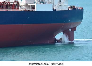 Ship's propeller and rudder