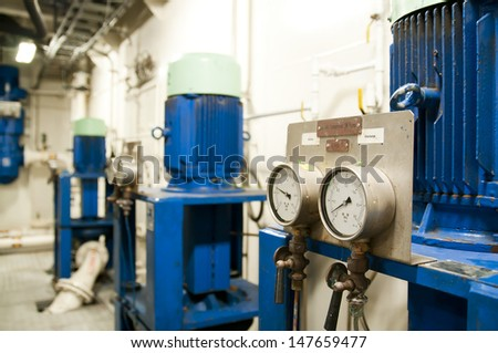 Ships Valves Main Engine Engineering Interior Stock Photo (Edit Now
