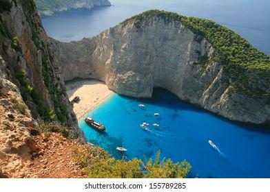 Shipwreck Bay, Zakynthos, Greece,