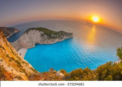 Shipwreck in Bay of Zakynthos Island, Greece