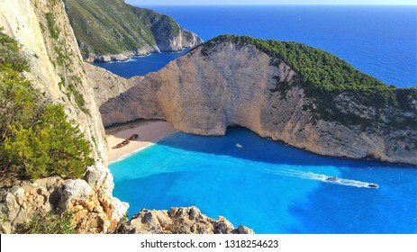 The shipwreck beach in Zante