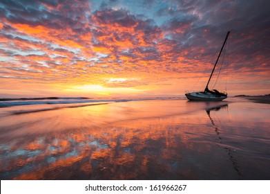 Shipwreck Cape Hatteras National Seashore Outer Banks North Carolina Sunrise
