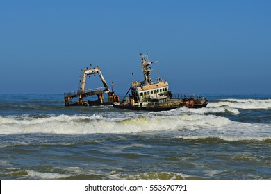 Shipwreck at the Coast of Namibia