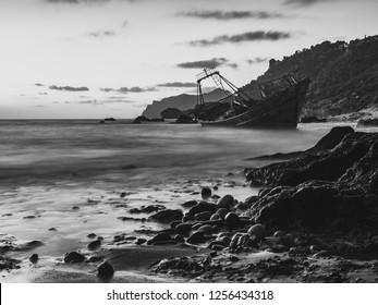 Shipwreck in Corfu Blackrocks