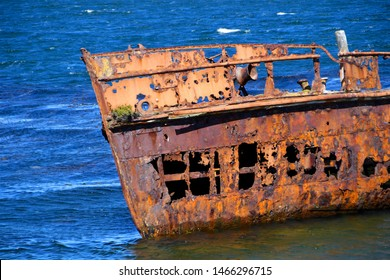 Shipwreck on the Falkland Islands