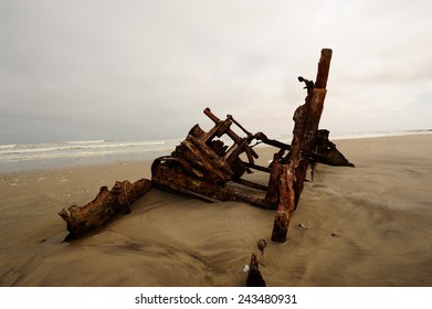 Shipwreck on Skeleton Coast
