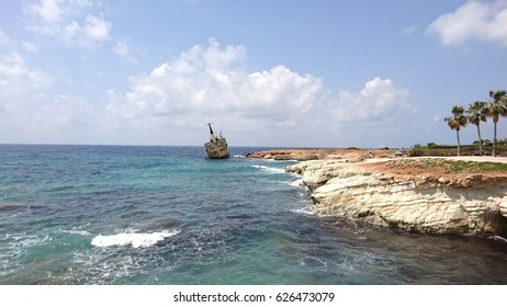 shipwreck in paphos