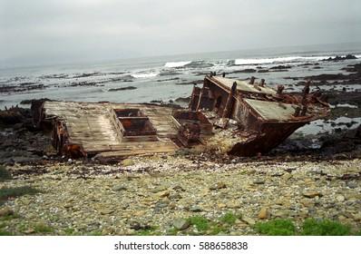 Shipwreck, Robben island, South African Republic