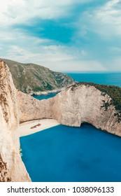 The shipwreck, Zakynthos island in Greece