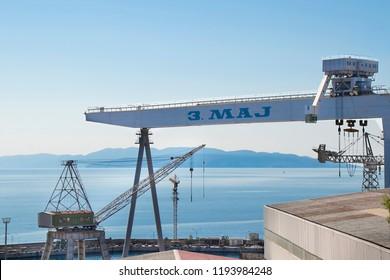 Shipyard 3. Maj, Rijeka, Croatia