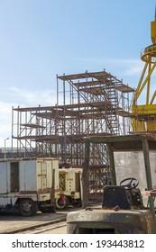 Shipyard area heavy Industry