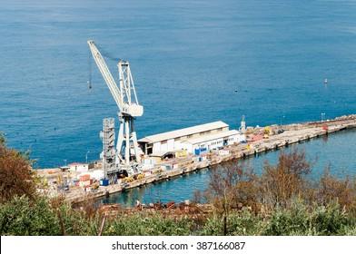 Shipyard of the Castellammare on the Gulf of Naples