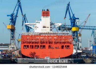 Shipyard in Hamburg, Germany