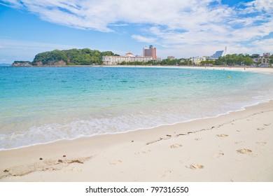Shirahama Beach in Wakayama Prefecture, Kansai, Japan.